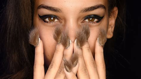 styling gel tips furry nails libertine s runway show at new york fashion