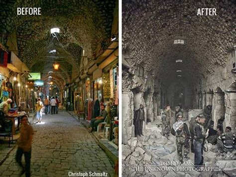 syria before and after aleppo old market before and after syria pinterest