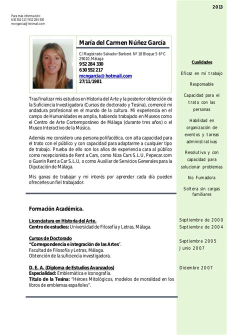 Ejemplo Curriculum Administrativo En Ingles Curriculum Vitae General 2013