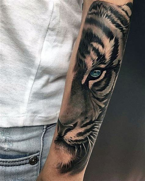 tiger tattoo on forearm 40 tiger designs for realistic animal