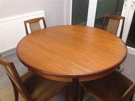 G Plan Dining Table And Chairs G Plan Teak Extending Dining Table And 4 Chairs Immaculate Condition Kingswinford Sandwell
