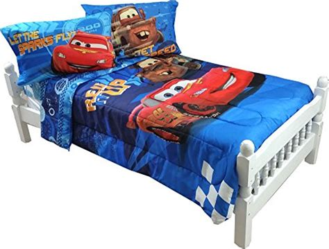 lightning mcqueen comforter 4pc disney cars full bed sheet set lightning mcqueen city