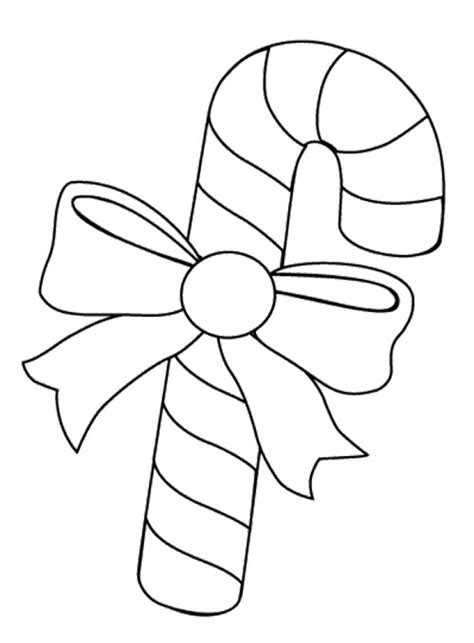 Online Printable Candy Cane Coloring Page With Candy Cane Canes To Color