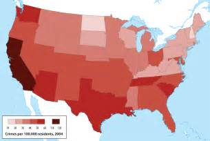 us crime map demographics and deception map skills and higher order