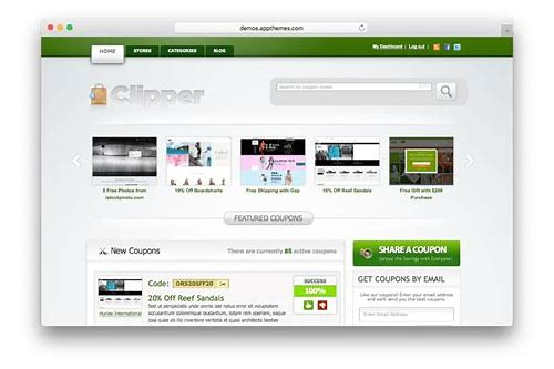 wordpress coupon code theme