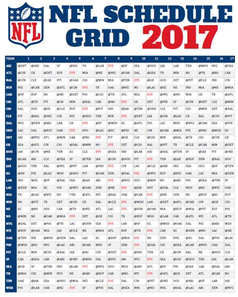 2017 nfl schedule release nfl football schedule 2017 released dates and times for