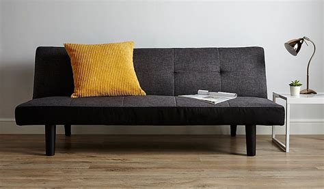 sofa bed click clack sale click clack 2 seater sofa bed charcoal furniture george