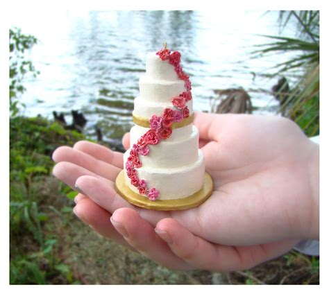Wedding Cake Ornament by Miniature Wedding Cake Replica Ornament Fantabulously Frugal