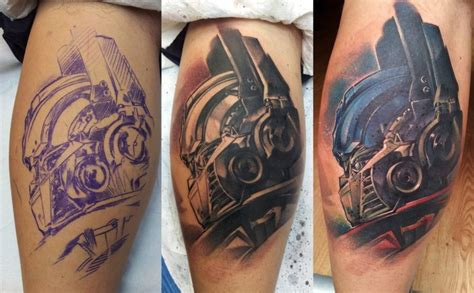 ink lab tattoo transformers fans here here s one done at skin lab