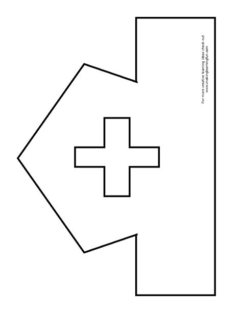 free coloring pages of nurse hat template