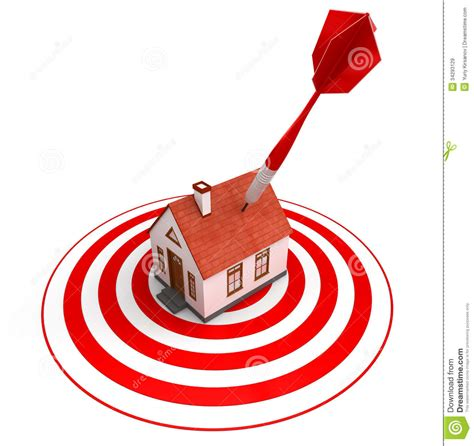 target house red dart on house target royalty free stock images image 34293129
