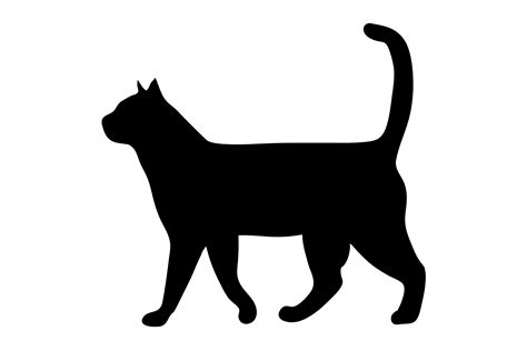 and cat clip cat black and white clip images