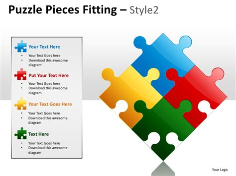 puzzle pieces template for powerpoint puzzle pieces fitting style 2 powerpoint presentation