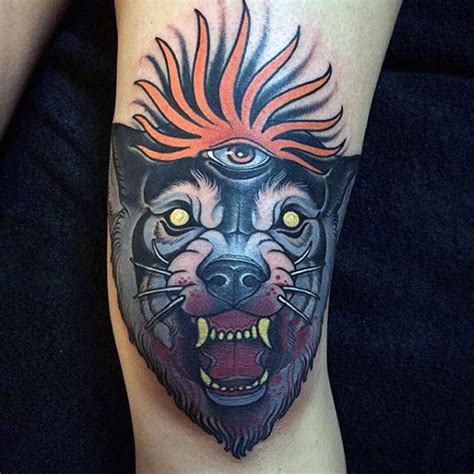 eye tattoo on knees 90 knee tattoos for men cool masculine ink design ideas