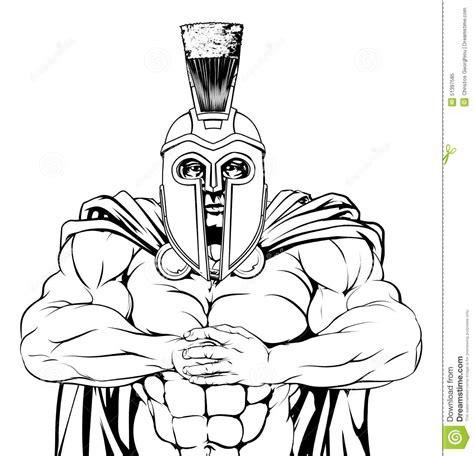 Twardy Spartan Ilustracja Wektor Ilustracja Z O Onej Z Dessin De Gladiateur L