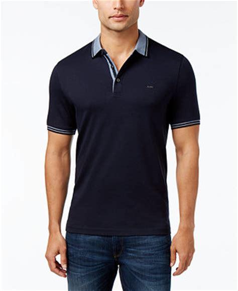 Kaos Fashion Michael Kors michael kors s liquid cotton greenwich polo shirt