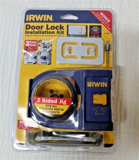 irwin tools door lock installation kit irwin 3111002 door lock installation kit with bonus router