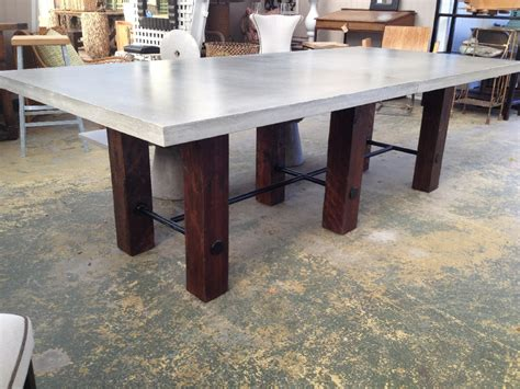 concrete top dining table thick concrete top dining table mecox gardens