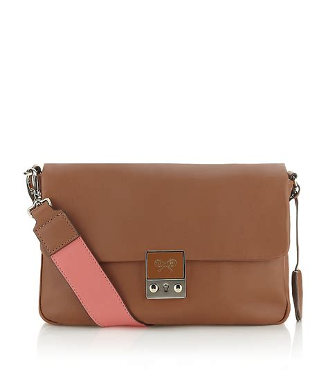 Anya Hindmarch Carker by Anya Hindmarch Carker Crossbody Bag In Brown Lyst