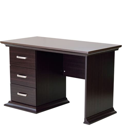 study desk attachable drawers buy kichirou study table with three drawers in wenge