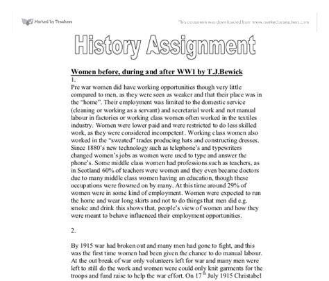World War I Essay Questions by Ww1 Essay Questions