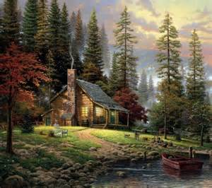 Log Cabin Paintings by Log Cabin Amazing