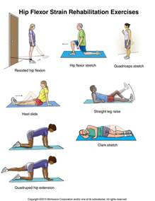 hip flexor strain exercises illustration hallmark