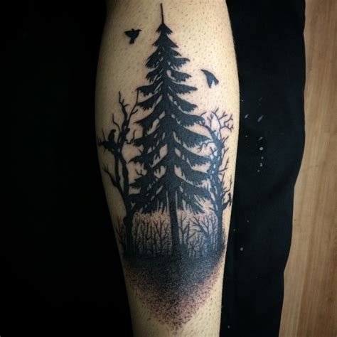tree leg tattoo designs 81 pine tree tattoos and ideas