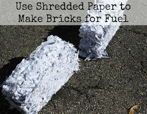 How To Make Shredded Paper - use shredded paper to make bricks for fuel