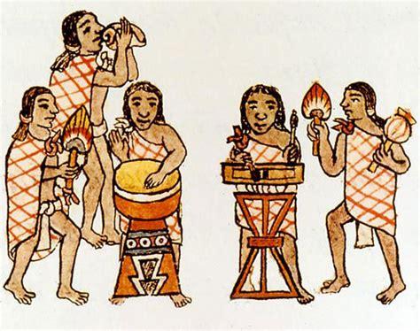 aztec men nobles hairstyles teponaztli