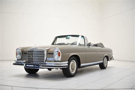 classic mercedes models brabus restores a stunning mercedes benz 280 se cabriolet