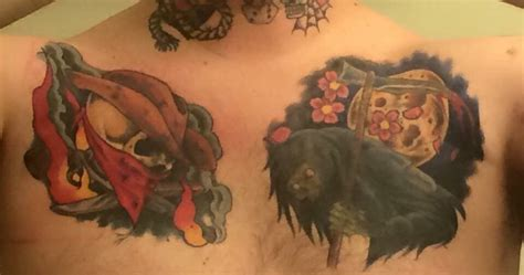 tattoo shops fargo nd cover up of two horrible tattoos with two amazing ones yelp