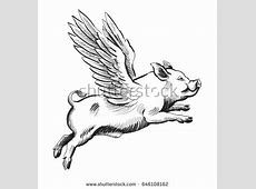 Flying Pig Stock Images, Royalty-Free Images & Vectors ... Flying Pig Drawing
