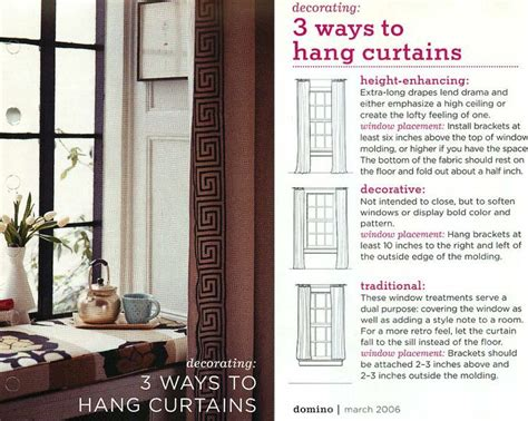 properly hanging curtains proper way to hang curtains ways to hang curtains