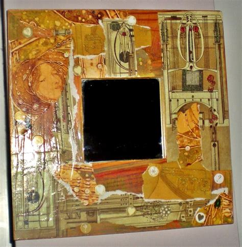 Decoupage Mirror - decoupage ikea mirror crafts picture frame mirrors