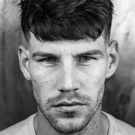 textured top faded sides sexy stubble beard styles 2018