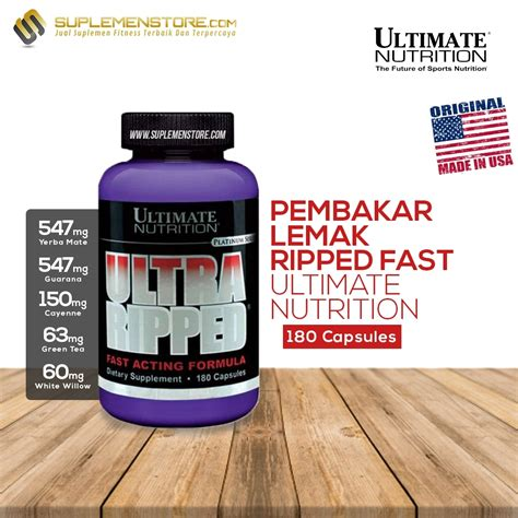 Ultra Ripped Eceran ultimate nutrition ultra ripped fast acting formula 180