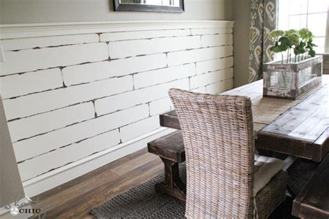 distressed wood planks for walls diy distressed plank wall shanty 2 chic