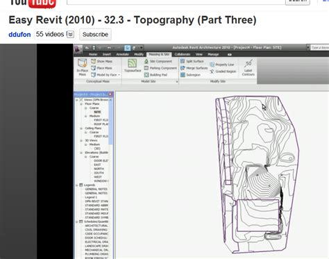 revit tutorial topography revit learning club three revit tutorials about topography