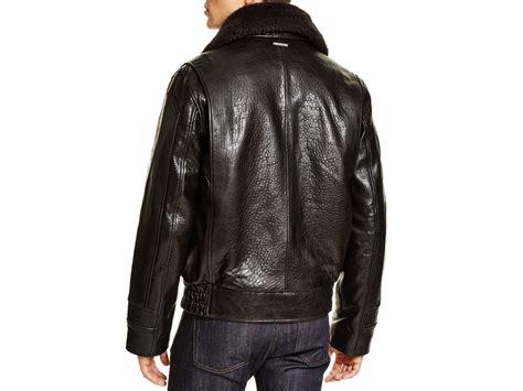 Jaket Bomber Original New Black Jaket Bomber Parasut marc new york carmine aviator leather bomber jacket in black for lyst