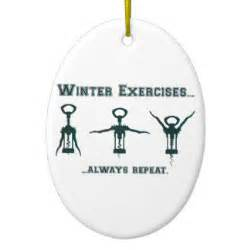funny winter exercises double sided oval ceramic christmas