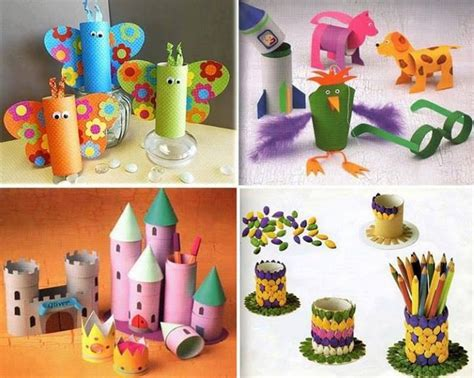 Crafts Made Out Of Toilet Paper Rolls - recycled toilet paper rolls kid crafts recycled things