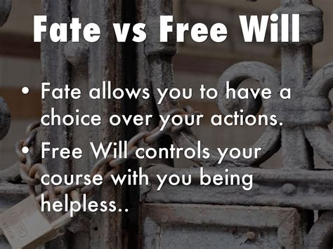 macbeth themes fate and free will fate vs free will by brandon wade