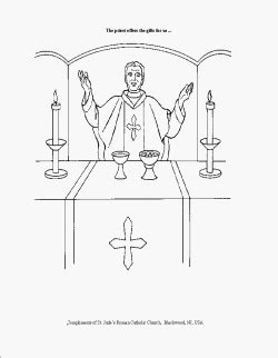 coloring pages catholic mass printable coloring sheets for the holy mass catholic