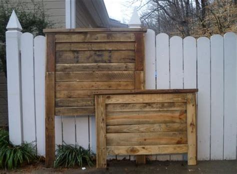 how to make a headboard and footboard diy pallet headboard and pallet footboard pallets designs