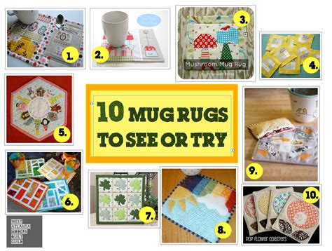 Quilt As You Go 10 mug rugs to see or try west atlanta modern quilt guild