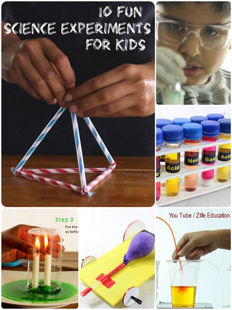 10 science experiments for to do at home