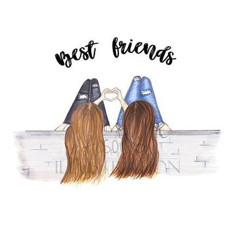 friends fashion illustration print personalised
