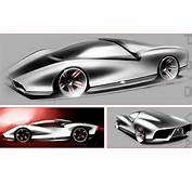 Ferrari Concept Sketches By John Caswell At Coroflotcom