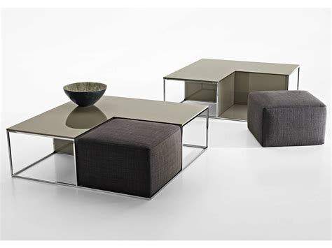 pouf coffee table area by b b italia design paolo piva